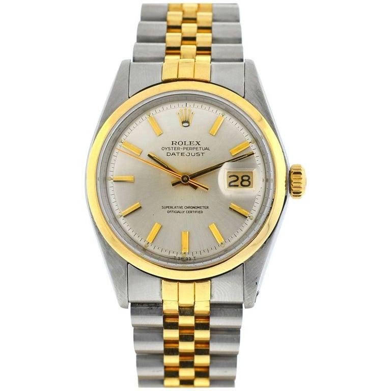 Rolex Two-Tone Datejust 1601 Jubilee Bracelet Watch