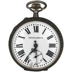 Pocketwatch Reguateur Veritable Echappement Roskopf Oversized Railroad