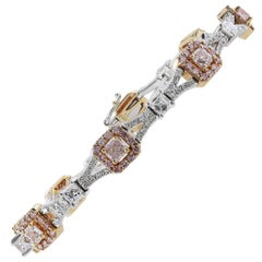 Fancy Pink Diamond Bracelet