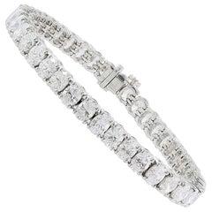 Oval Diamond Tennis Style Bracelet 17.63 Carat Total Weight