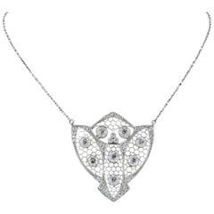 Edwardian Diamond Medallion Pendant Platinum
