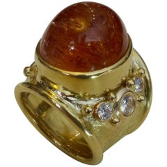Michael Kneebone Precious Topaz White Diamond Bombe Ring