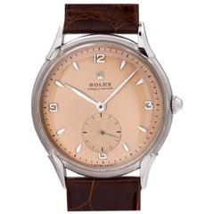 Rolex Stainless Steel Dress manual wind wristwatch, circa 1950s