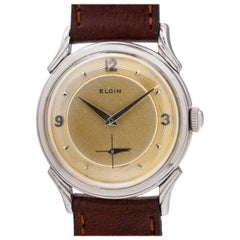 "Elgin Stainless Steel ""LP"" manual wind wristwatch, circa 1950s"