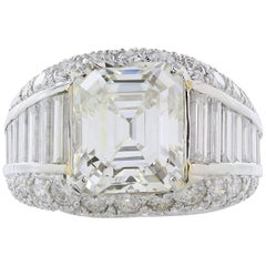 5.02 carat Emerald Cut Diamond Ring