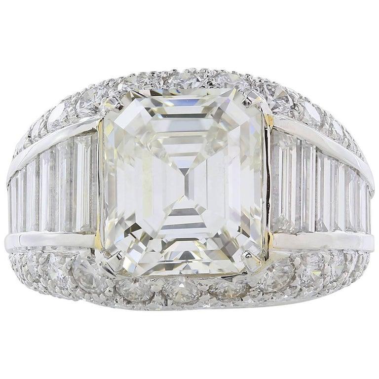 5.02 carat Emerald Cut Diamond Ring