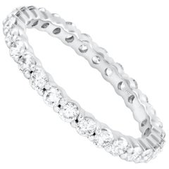 1.00 Carat Total Round Diamond Eternity Wedding Band