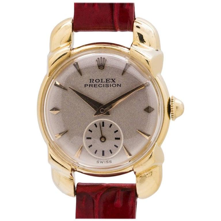 Rolex Ladies Yellow Gold Precision Dress Model manual wristwatch, circa 1952