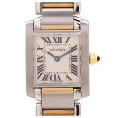 Cartier Ladies yellow gold stainless steel Tank Francaise quartz wristwatch