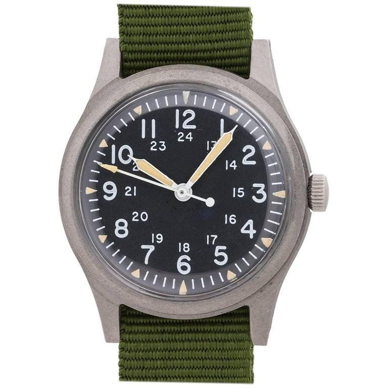 Hamilton Base Metal U.S. Military Post Vietnam manual wristwatch, circa 1979