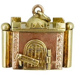 Taj Mahal Charm, Pink and Yellow Gold with Movable Parts, Handmade, circa 1950