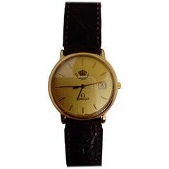 Omega City Golden Quartz Wristwatch