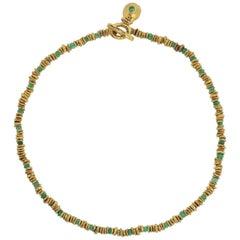 Susan Cummings Emerald Gold Necklace