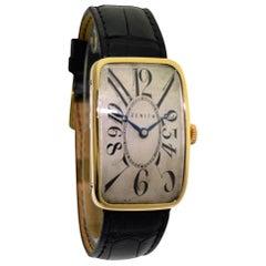 Zenith Yellow Gold Art Deco Original Dial Manual Wristwatch, 1920s