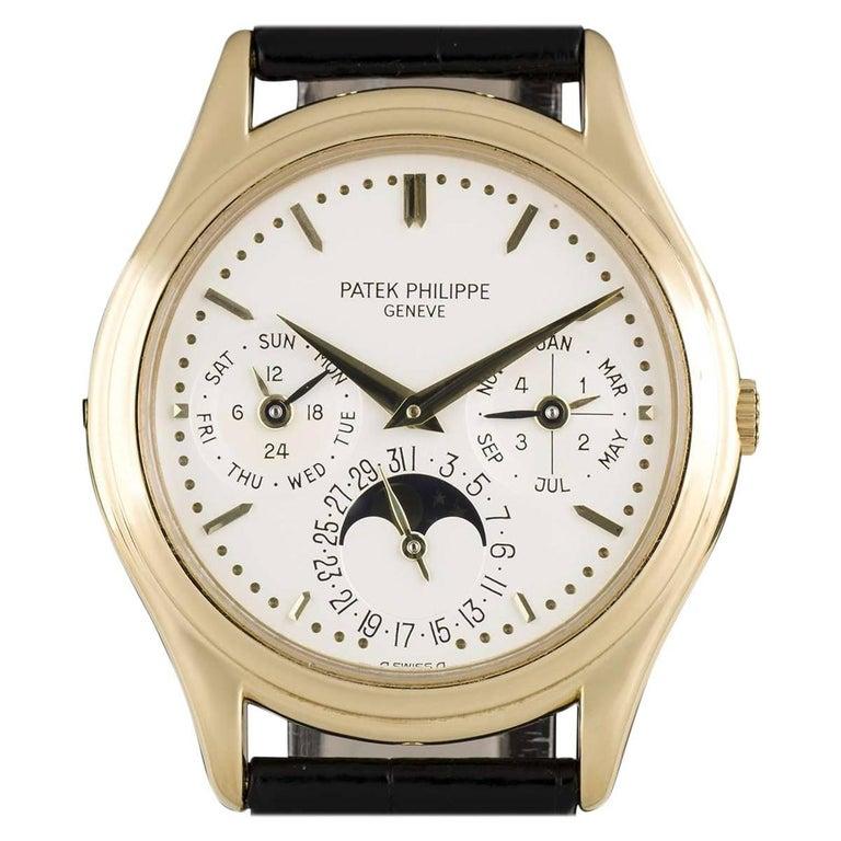 Patek Philippe Yellow Gold Perpetual Calendar Automatic Wristwatch Ref 3940J