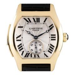 Cartier Rare Ltd Ed Tortue Minute Repeater Gold Silver Dial Manual Wind Watch