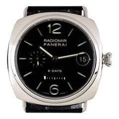 Panerai Stainless Steel Radiomir 8 Days Manual Wind Wristwatch Ref PAM00268