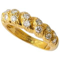 Diamond and 18 Karat Yellow Gold Cartier Ring