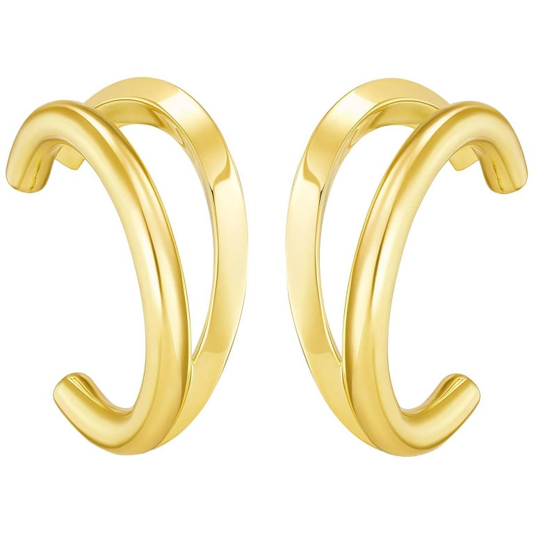 Sterling Silver Gold Vermeil Fusion Earrings