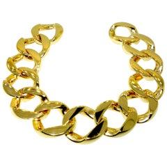 Heavy Gold Curb Link Bracelet