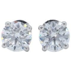 Platinum Tiffany & Co. Diamond Stud Earrings