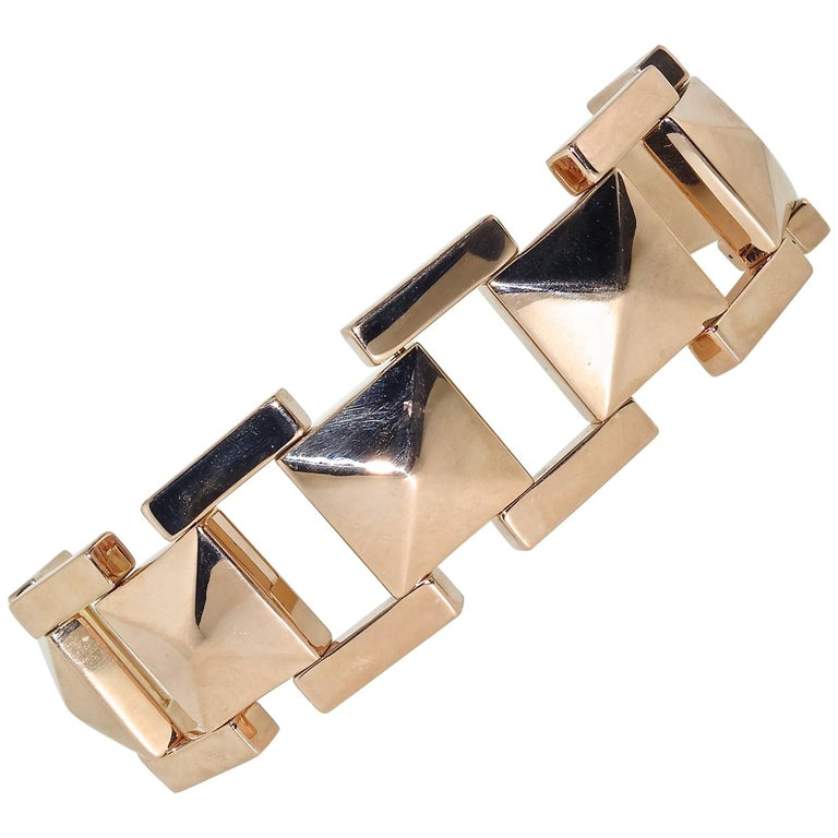 Tiffany & Co. Retro Pink Gold Link Bracelet