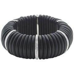 Ebony and Diamond Bracelet
