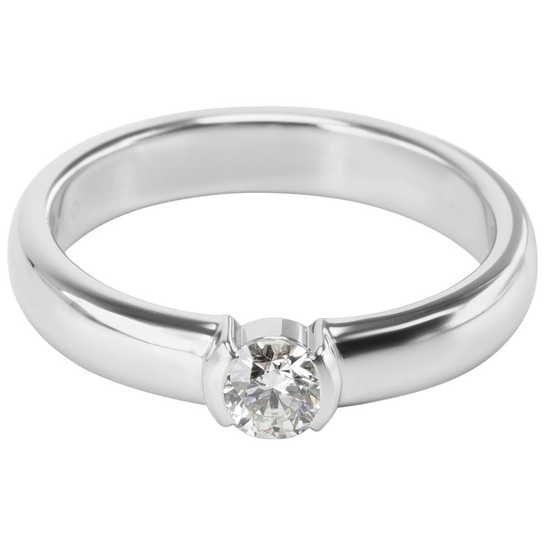 Tiffany & Co. Diamond Engagement Ring in Platinum H-VVS1 0.24 Carats
