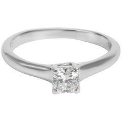 Tiffany & Co. Diamond Solitaire Engagement Ring in Platinum 0.32 Carats