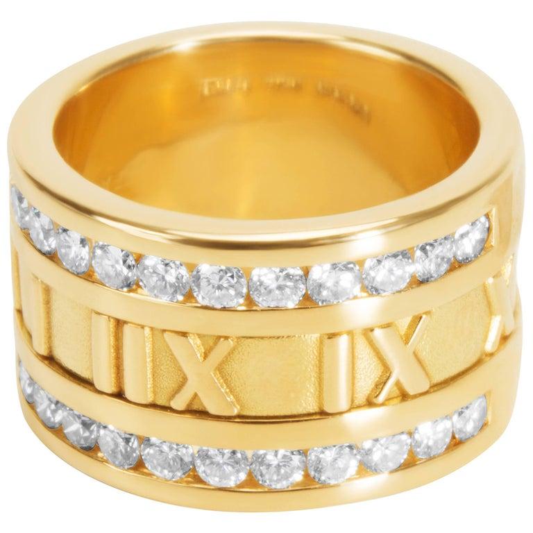 Tiffany & Co. Diamond Atlas Ring in 18KT Gold 0.84 Carat