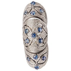 Clarissa Bronfman Sapphire and Diamond 'Gladiator' Ring
