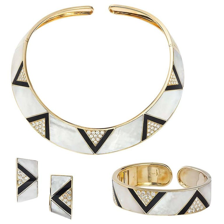 Marina B. Yellow Gold Diamond Mother-of-Pearl Suite