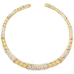 Marina B. 18 Karat Yellow Gold Diamond Choker Necklace