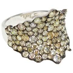 Fancy Yellow Diamond Cocktail Ring