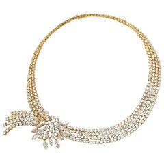 M. Gerard 18 Karat Yellow Gold Diamond Necklace