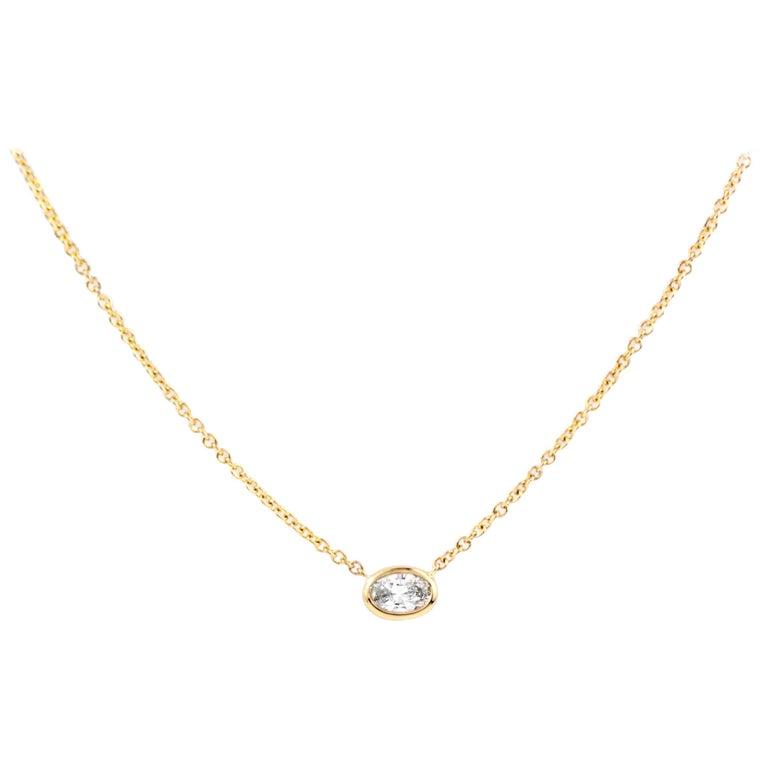 Julius Cohen Oval Diamond Chain Necklace