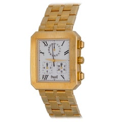 Piaget Protocole 18k Yellow Gold Quartz Midsize Chronograph Wrist Watch