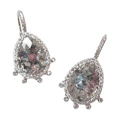 Sharon Khazzam Platinum Grey and White Diamond Shimmee® Eardrops