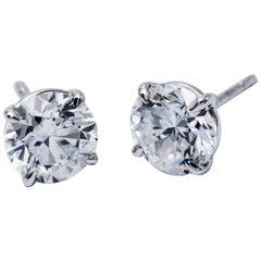 Diamond Studs 2.29 Carat GIA Certificate