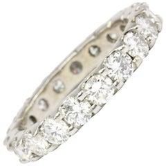 White Gold 2.5 Carat Diamond Eternity Band