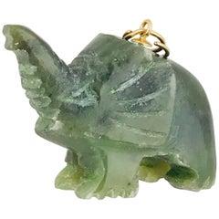 Elephant, Nephrite Carved