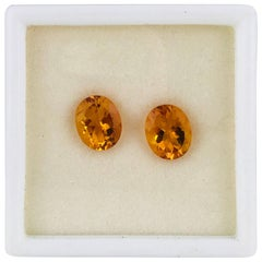 3.10 Carat, Citrine Matched, Calibrated, Brilliant Oval Cuts