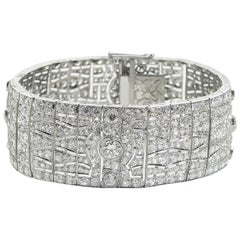 French Art Deco Diamond Bracelet