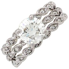 1.02 Carat Round Brilliant Cut Diamond Eternity Ring IGI Certified VVS1/H