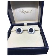 Chopard L.U.C. 18 Karat White Gold Men's Cufflinks 75/2000-1001
