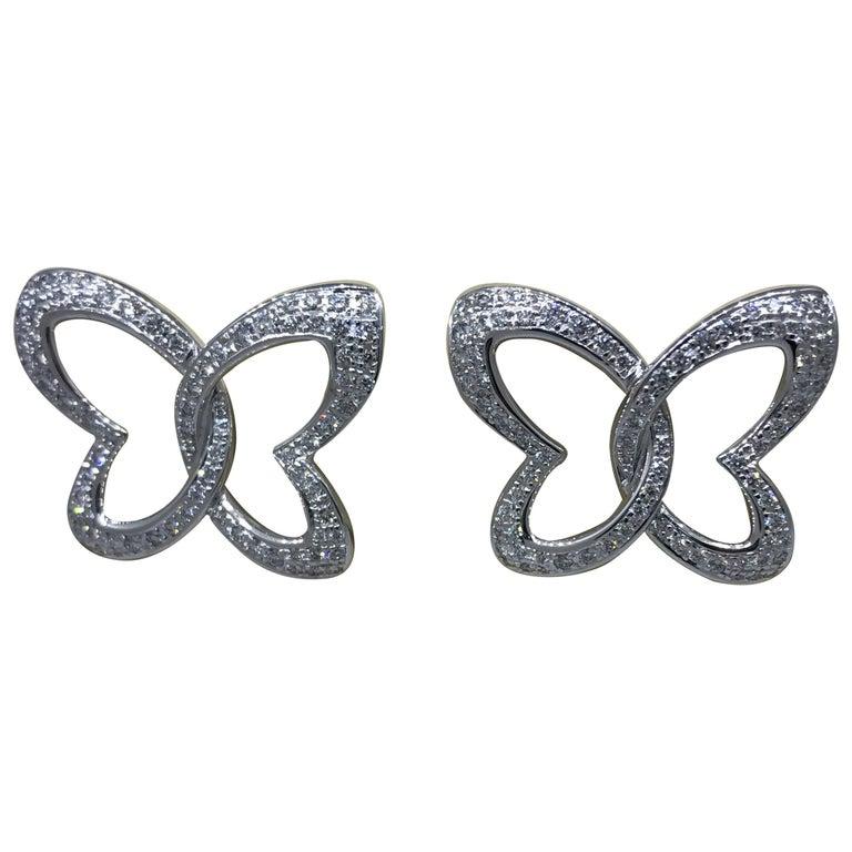 Chopard 18 Karat Gold and Diamond Stud Ladies Earrings 83/7445-1002