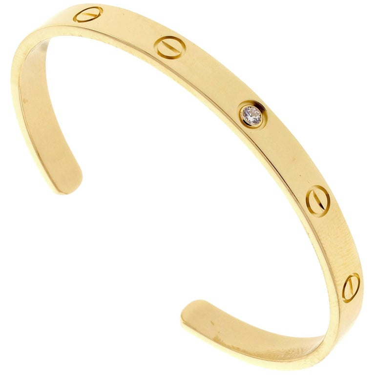 Cartier Yellow Gold Love Cuff Bangle Bracelet