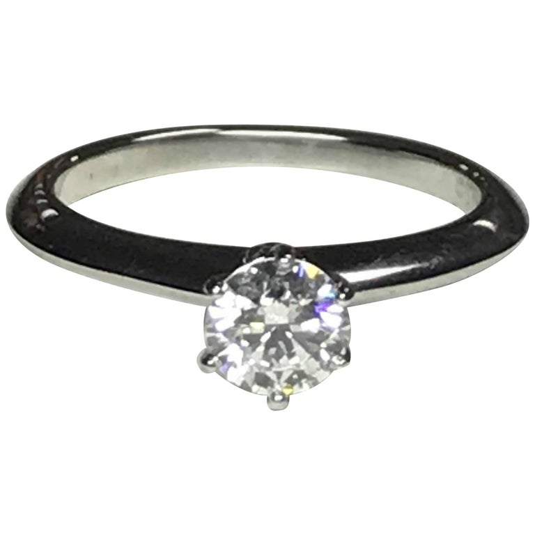 Tiffany & Co. Engagement Ring, .53 Carat Centre