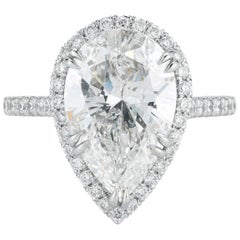 5.01 Carat Pear Shape Diamond Engagement Ring