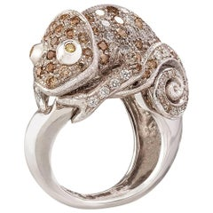 Missiaglia1846 White Gold and Diamonds Chameleon Ring
